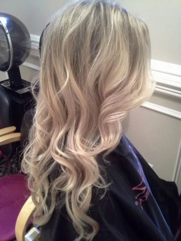 Pearl Blonde Highlights With Beach Waves | Hairstyles | Pinterest Intended For Pearl Blonde Highlights (View 2 of 25)