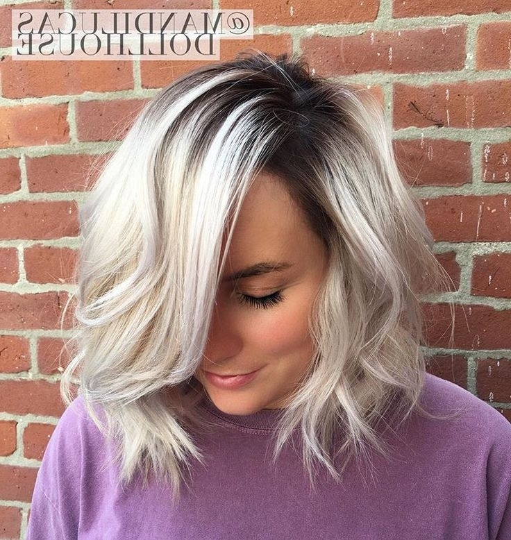 Pearlized Blonde With Stretched Shadow Root (View 11 of 25)
