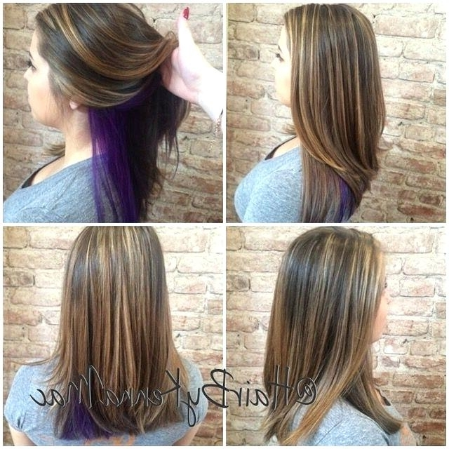 Peek A Boo Hair Highlights Dark – Elevateleaders Within Browned Blonde Peek A Boo Hairstyles (View 21 of 25)