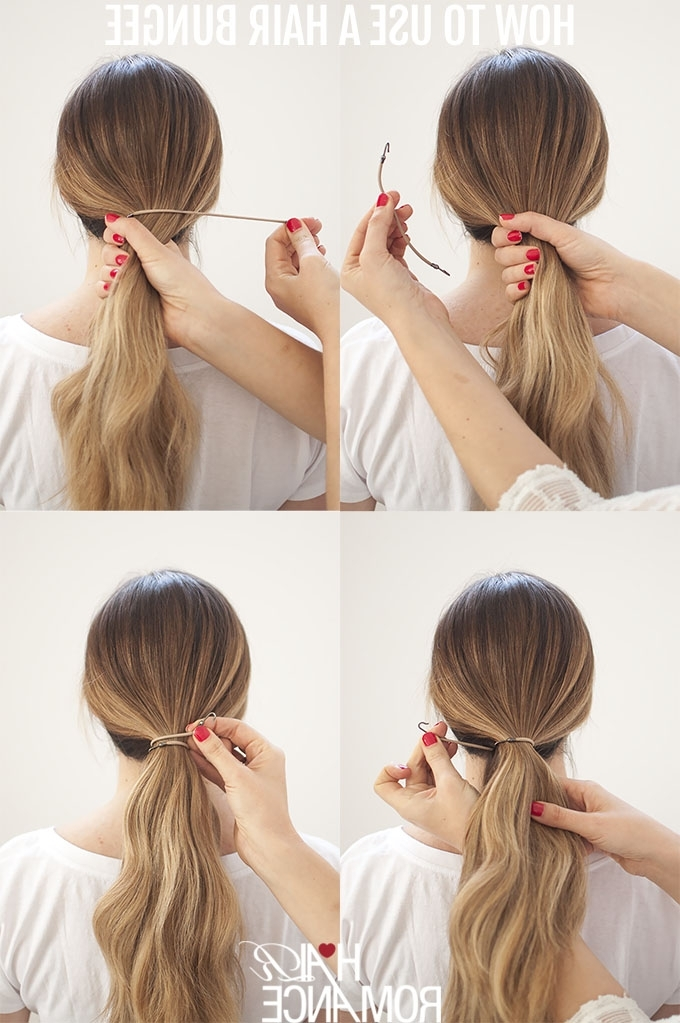 Perfect Ponytails – How To Use A Hair Bungee And Hide Your Hair With Wrapped Up Ponytail Hairstyles (View 21 of 25)