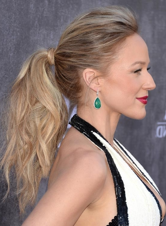 Perfectly Messy—50 Different Messy Hairstyles Throughout Bold And Blonde High Ponytail Hairstyles (View 23 of 25)