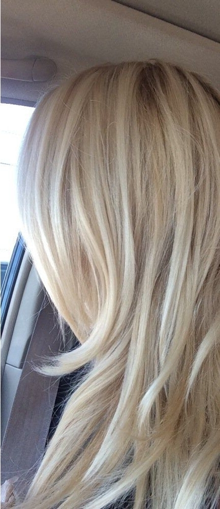 Peruvian Body Wave Blonde In 2018 | Make Up | Pinterest | Brassy For Creamy Blonde Waves With Bangs (View 20 of 25)