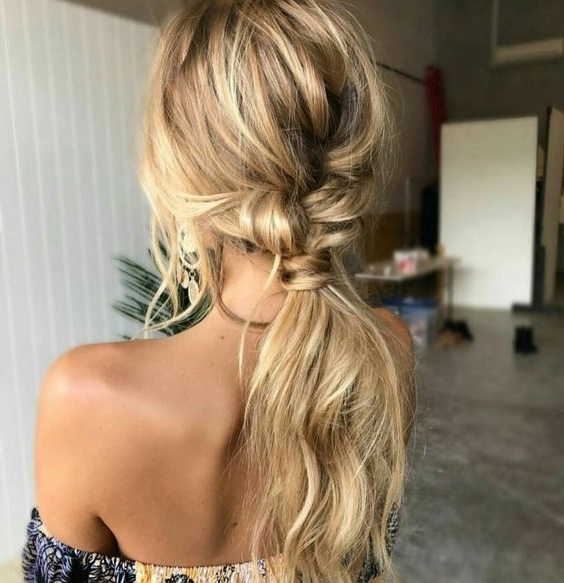 Picture Of Loose Low And Messy Ponytail Is Easy To Make Yourself Pertaining To Messy Ponytail Hairstyles (View 23 of 25)