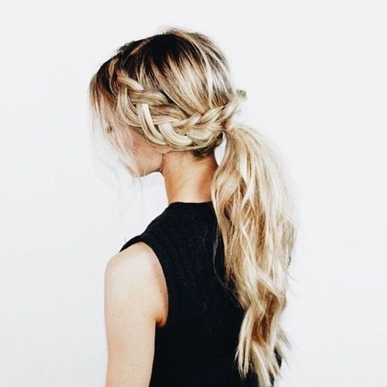 Picture Of Ponytail Hairstyle For A Bride Within Braided Boho Locks Pony Hairstyles (View 5 of 25)