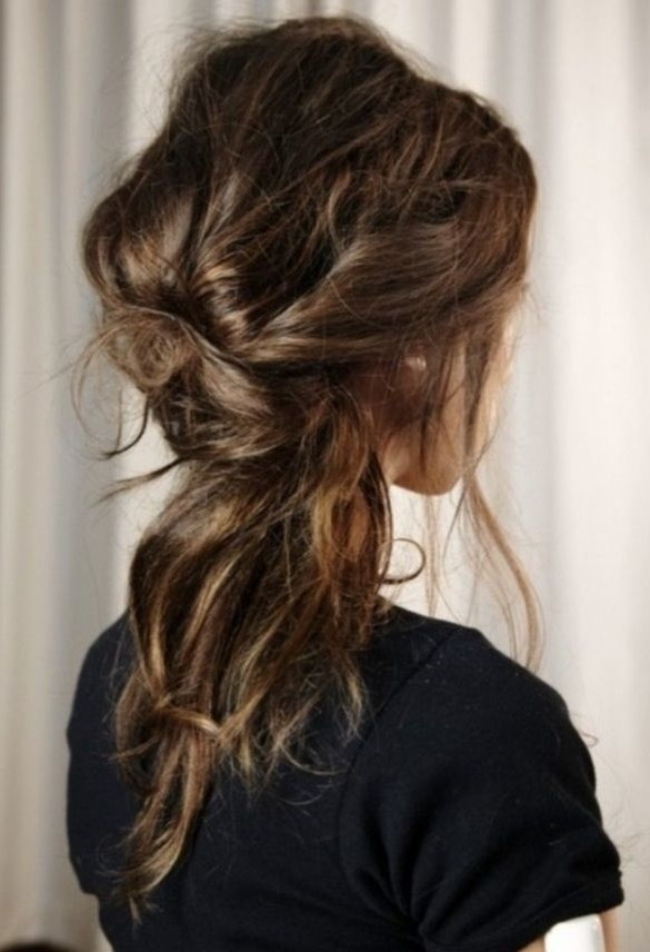 Featured Photo of Messy Half Ponytail Hairstyles