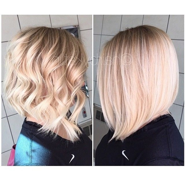 Pinarlene Pocevic On Hairstyles I Love | Pinterest | Bob Styles With Angled Wavy Lob Blonde Hairstyles (View 22 of 25)