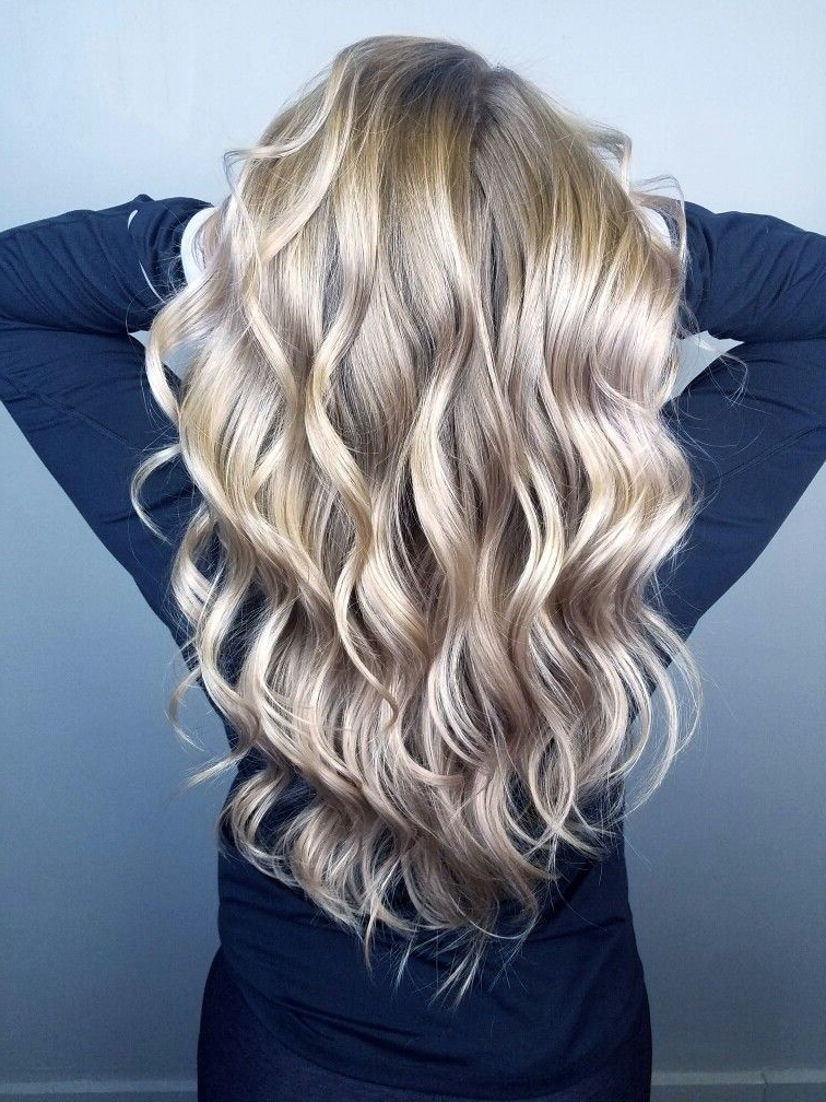 Pinashton On Hairashton @ Splat Hair Design | Pinterest With Regard To Pearl Blonde Bouncy Waves Hairstyles (View 9 of 25)