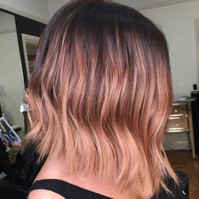 Pinbethany Martin On Hair | Pinterest | Lob, Balayage And Rose Regarding Blunt Cut White Gold Lob Blonde Hairstyles (View 23 of 25)