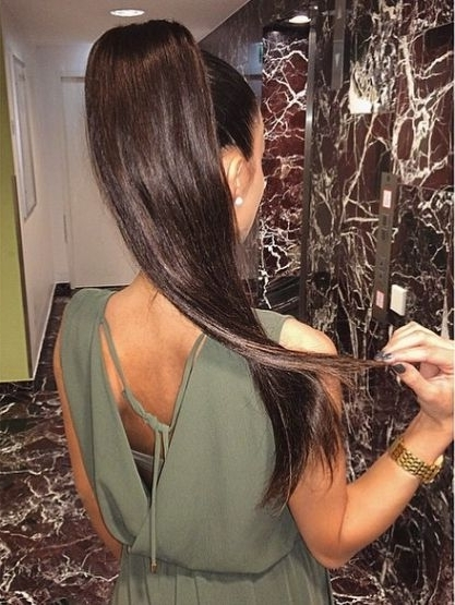 Pincrooklyn Chucks On Luscious Locks | Pinterest | Prom With Regard To Black And Luscious Pony Hairstyles (View 21 of 25)