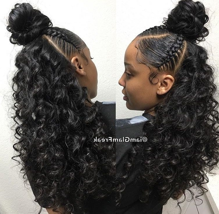 Pin?@???????? ? On ?????? | Pinterest | Black Pertaining To Highlighted Afro Curls Ponytail Hairstyles (View 6 of 25)
