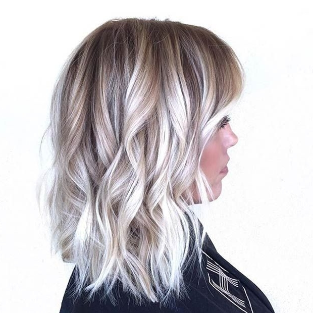 Pinfiona On Fee's Hair Colours | Pinterest | Hair Coloring, Hair With Regard To Ice Blonde Lob Hairstyles (View 8 of 25)