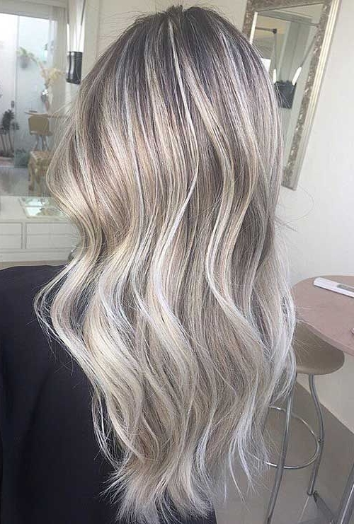 Pinhairstyles Catalog On Highlights In 2018 | Pinterest | Gray With Grayscale Ombre Blonde Hairstyles (View 5 of 25)