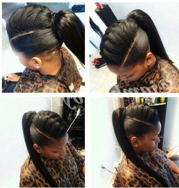 Pinisioma Babs On Hair I Love | Pinterest | Protective Styles Throughout Classy 2 In 1 Ponytail Braid Hairstyles (View 11 of 25)