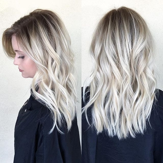 Pinkaty Fullwood On Nails, Hair, And Makeup! In 2018 | Pinterest With Dark Roots And Icy Cool Ends Blonde Hairstyles (View 24 of 25)