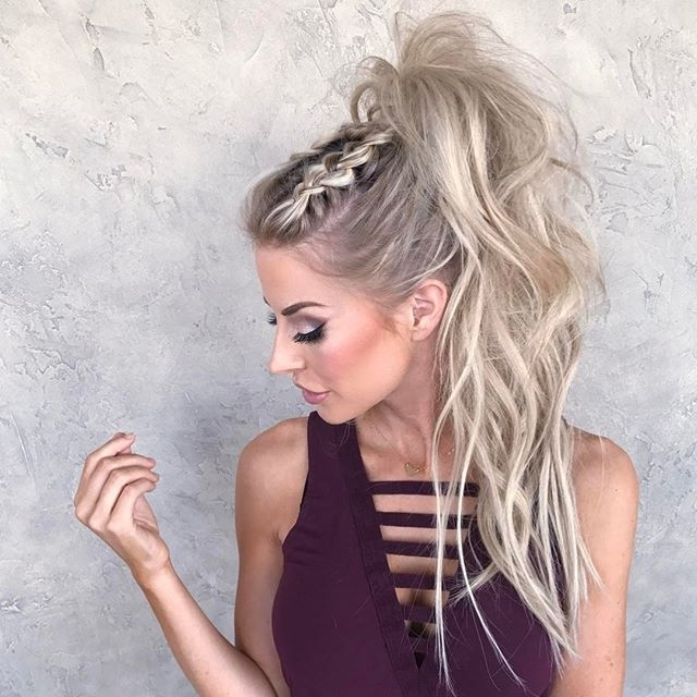 Pinkristine Desgroseillier On Hair | Pinterest | Thursday With Long Blond Ponytail Hairstyles With Bump And Sparkling Clip (View 19 of 25)