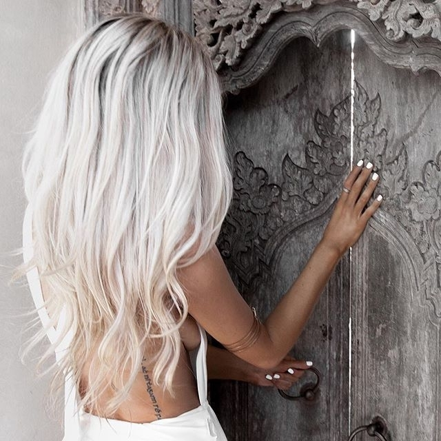 Pinlizzie Carey On Cool | Pinterest | Hair Coloring, White With Regard To Sexy White Blond Weave Ponytail Hairstyles (View 14 of 25)