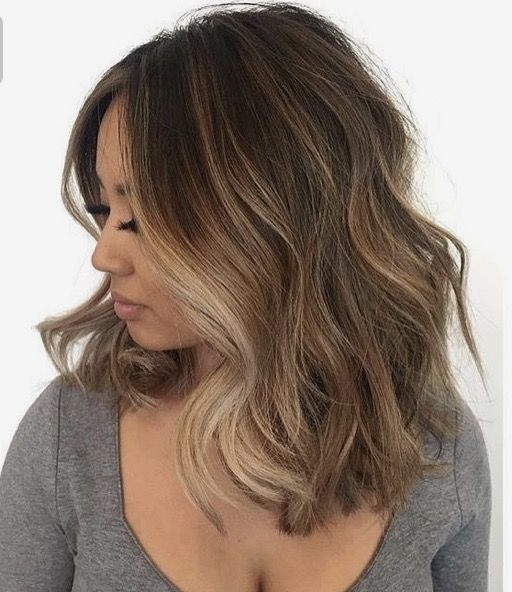 Pinlyss Laurens On Short Hairstyles | Pinterest | Wavy Haircuts Regarding Brunette Hairstyles With Dirty Blonde Ends (View 12 of 25)
