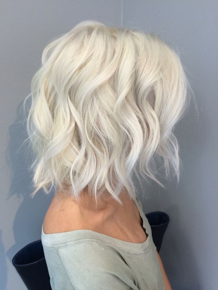 Pinmellony Kailey On Short Hairstyles In 2018 | Pinterest With Regard To Pearl Blonde Bouncy Waves Hairstyles (View 13 of 25)
