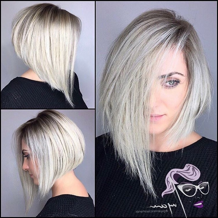 Pinniki On Edgy Short Hair | Pinterest | Haircuts, Bobs And Hair Regarding Asymmetry Blonde Bob Hairstyles Enhanced By Color (View 23 of 25)