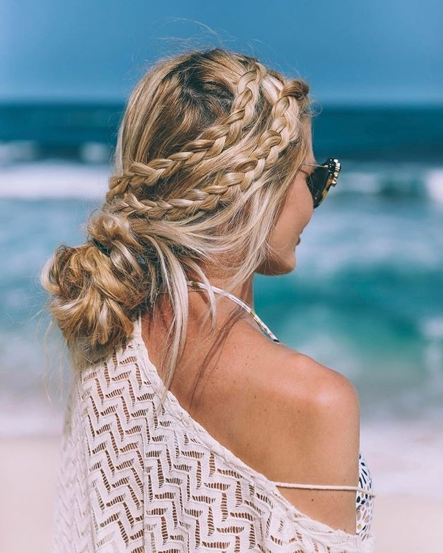 Pinsarah Kate Barrett On Hair & Beauty | Pinterest | Snapchat Throughout Beachy Braids Hairstyles (View 24 of 25)