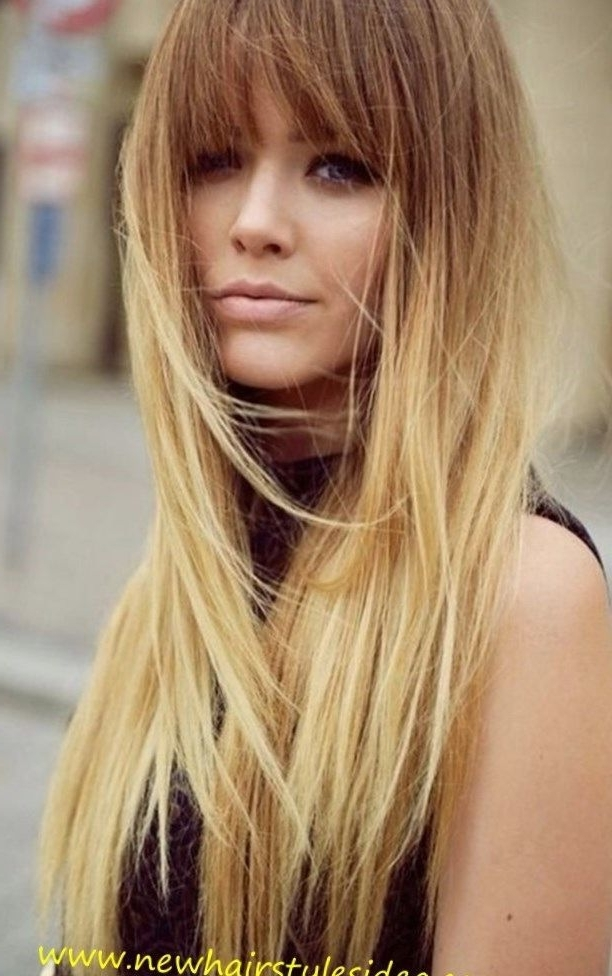Pinsofia Rapi On Hairstyle | Pinterest | Blonde Hairstyles Intended For Casual Bright Waves Blonde Hairstyles With Bangs (View 25 of 25)