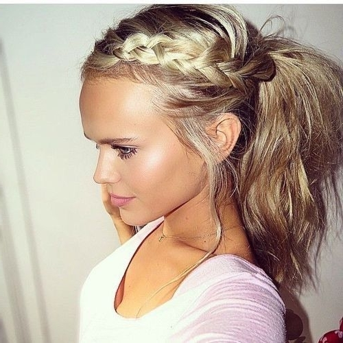 Pinterry Angela On Hair | Pinterest | Hair Style, Makeup And For Braid Into Pony Hairstyles (View 20 of 25)