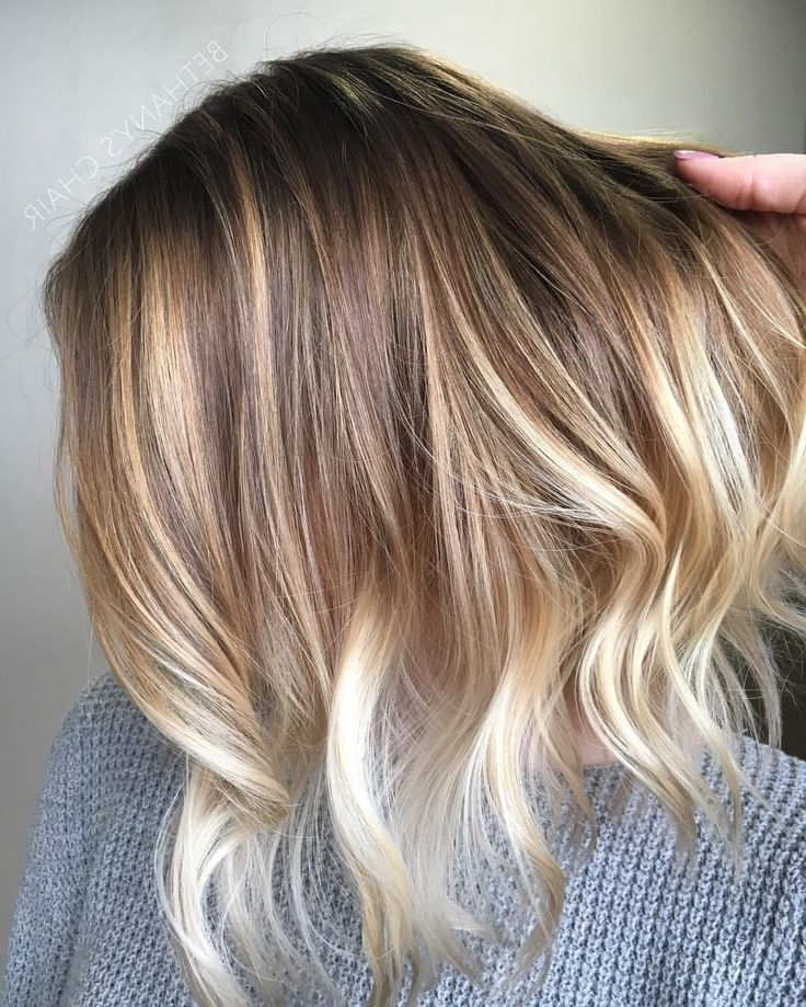 Pinthe Rollin J On Rollin J Salon | Pinterest | Balayage Lob With Regard To Ombre Ed Blonde Lob Hairstyles (View 15 of 25)