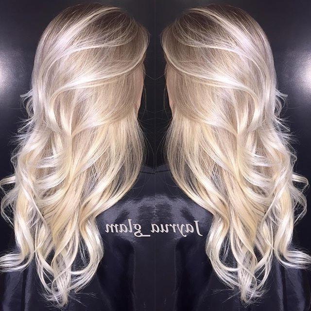 Pintyler Alexander On Beauty | Pinterest | Pearl Blonde Pertaining To Pearl Blonde Bouncy Waves Hairstyles (View 12 of 25)