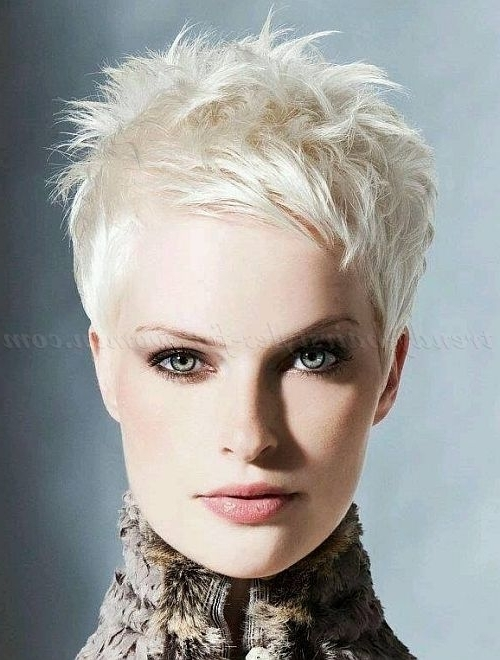 Pixie Cut, Pixie Haircut, Cropped Pixie – Blonde Pixie Hairstyle In Short Silver Crop Blonde Hairstyles (View 3 of 25)
