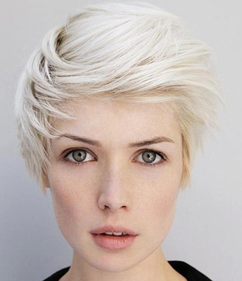 Pixie Cuts: 13 Hottest Pixie Hairstyles And Haircuts For Women In Newest Bleach Blonde Pixie Hairstyles (View 18 of 25)