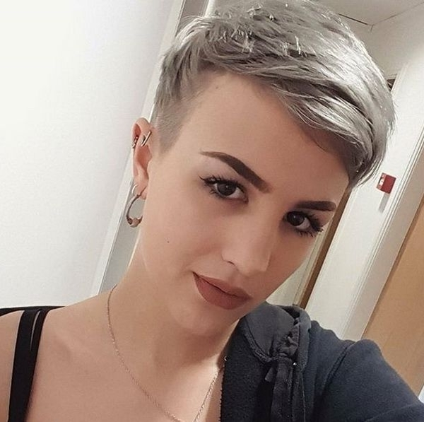 Pixie Gray Blonde Haircuts 2018 2019 | Hairstyles Ideas | Pinterest For Latest Gray Blonde Pixie Hairstyles (View 18 of 25)
