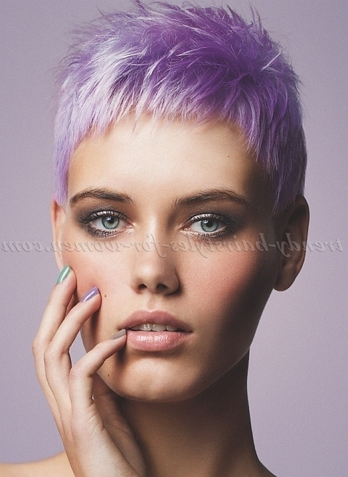 Pixie Haircut – Lavender Hair Color | Trendy Hairstyles For Women In Most Current Lavender Pixie Bob Hairstyles (View 14 of 25)