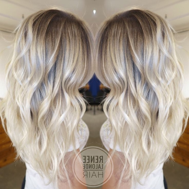 Platinum Blonde Balayage Long Hair Beach Waves | Hair Ideas For Beachy Waves Hairstyles With Blonde Highlights (View 12 of 25)