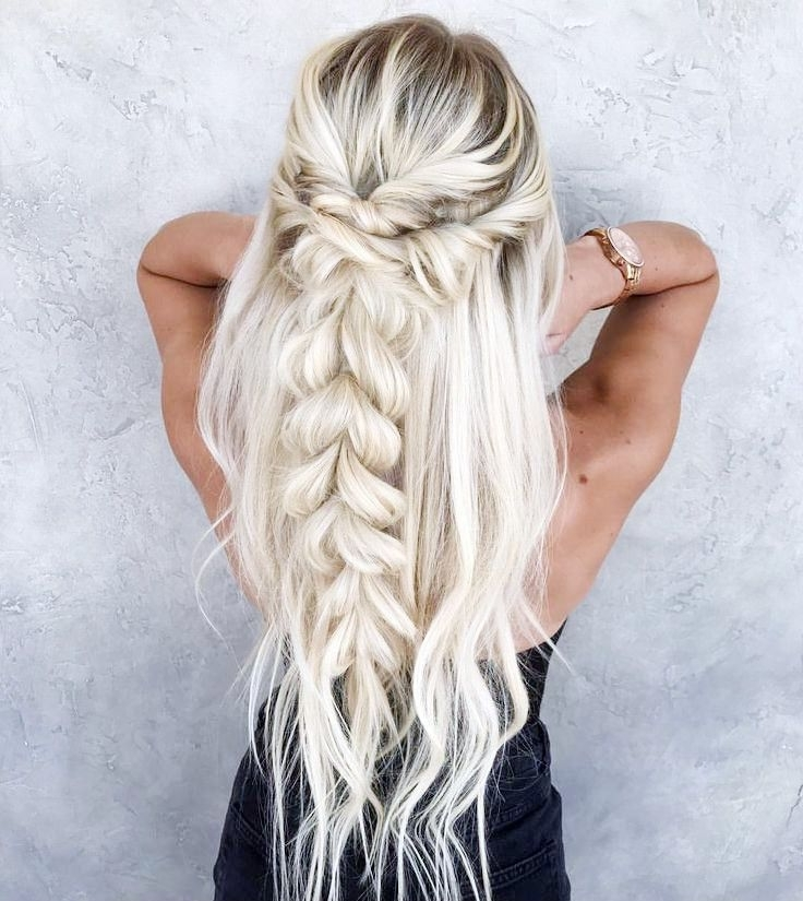 Platinum Blonde Braid Short Hair, Long Hair, Braids (View 9 of 25)