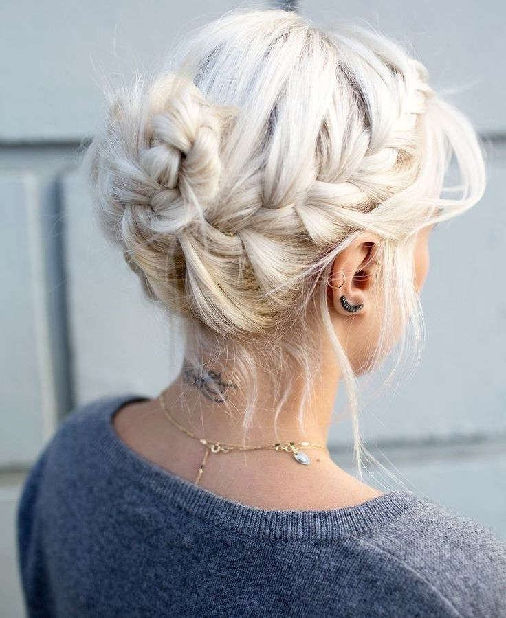 Featured Photo of Platinum Braided Updo Blonde Hairstyles