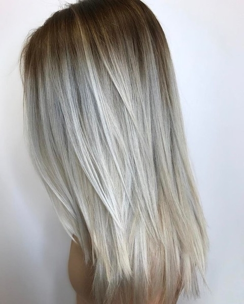 Platinum Blonde Color Melt – 20 Blonde Ideas You'll Want To Show Inside Blonde Color Melt Hairstyles (View 23 of 25)