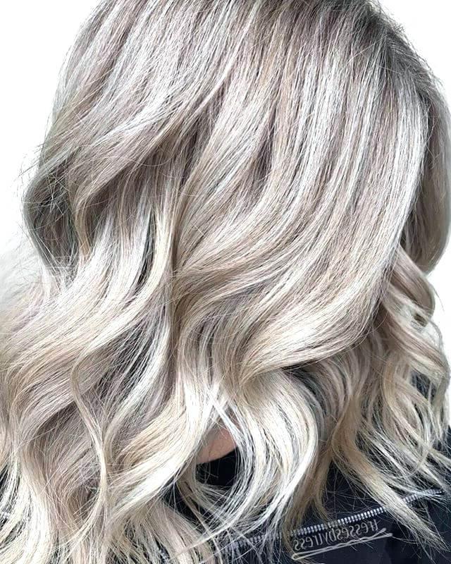 Platinum Blonde Hairstyles Darker Platinum Blonde Hair With Golden In Platinum Highlights Blonde Hairstyles (View 19 of 25)