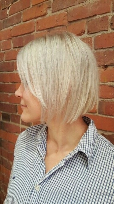 Platinum Blonde With Textured Bob (View 13 of 25)