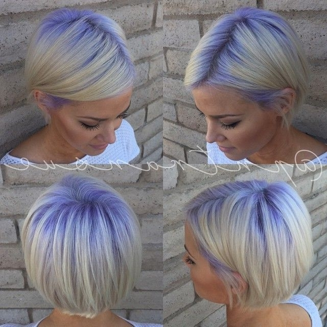 Platinum Hair With Purple Roots | Hair | Pinterest | Patience With Regard To Platinum And Purple Pixie Blonde Hairstyles (View 14 of 25)