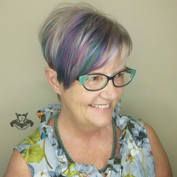 Platinum Silver And Pastel Tones ? Undercut Pixie Haircut With Regard To Silver Bettie Blonde Hairstyles (View 20 of 25)