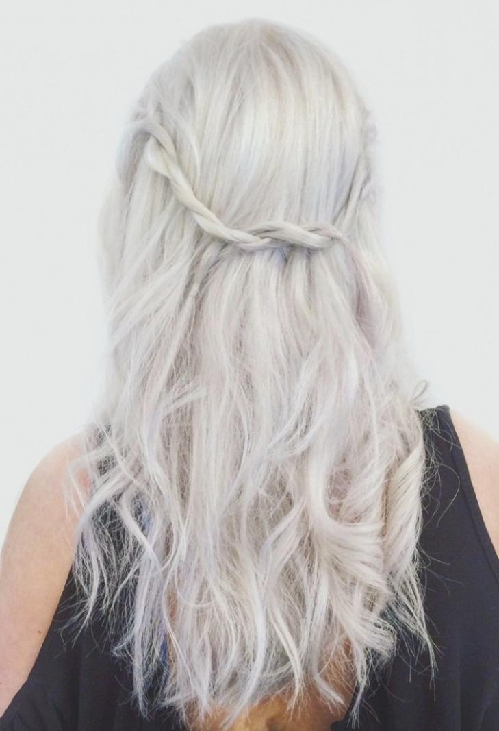 Platnium Aveda Blonde With Braid Twist! | Aveda Hairstyles . (View 10 of 25)