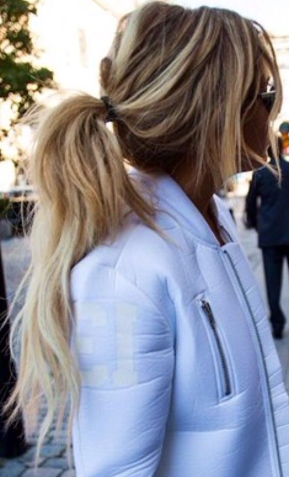 Please Someone Show Me The Secret To Messy Ponytails (View 24 of 25)