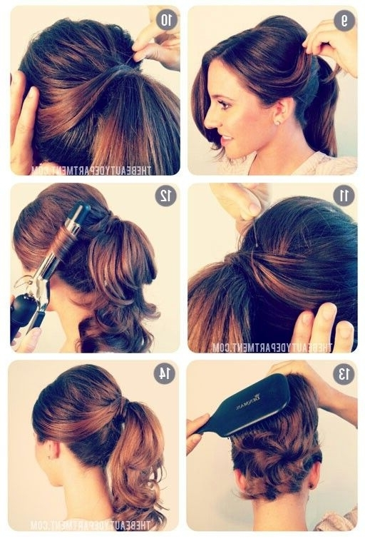 Pony Tail Updo2 | Style Your Own | Pinterest | Hair Style And Throughout Vintage Curls Ponytail Hairstyles (View 19 of 25)