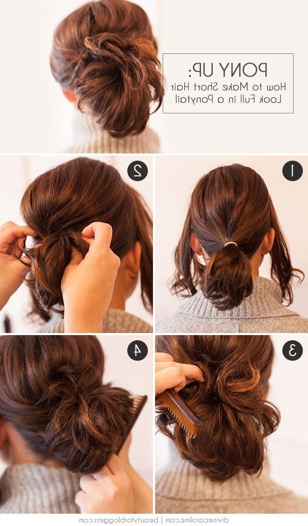 Pony Up: How To Make Short Hair Look Full In A Ponytail | Beautiful Throughout Pony Hairstyles With Wrap Around Braid For Short Hair (View 23 of 25)