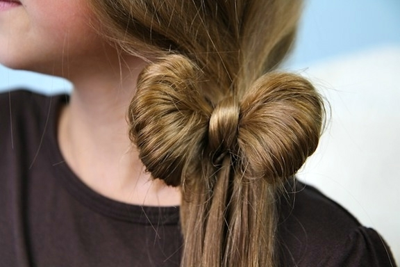 Ponytail Bow | Cute Girls Hairstyles In Bow Braid Ponytail Hairstyles (View 2 of 25)