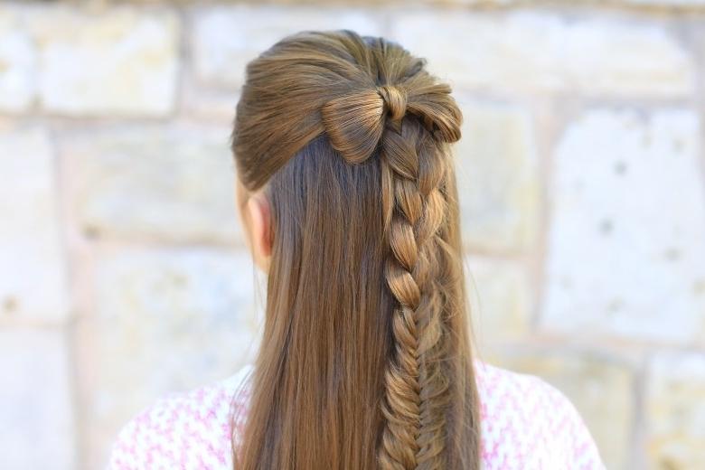 Ponytail Bow | Cute Girls Hairstyles Regarding Bow Braid Ponytail Hairstyles (View 20 of 25)