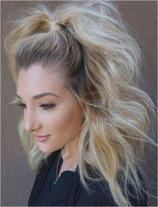 Ponytail Hairstyle Cool Retro Half Up Ponytail Hair Pinterest Plan Regarding Half Up Curly Look Pony Hairstyles (View 23 of 25)