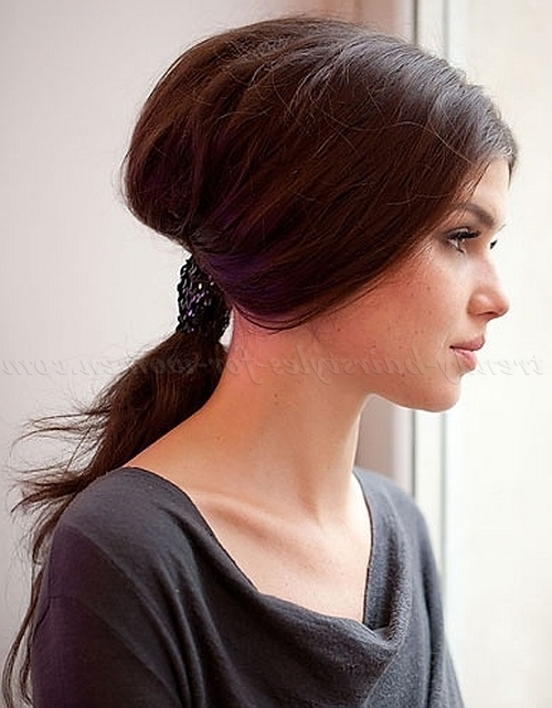 Ponytail Hairstyles – Bouffant Low Ponytail | Trendy Hairstyles For Inside Bouffant Ponytail Hairstyles (View 20 of 25)