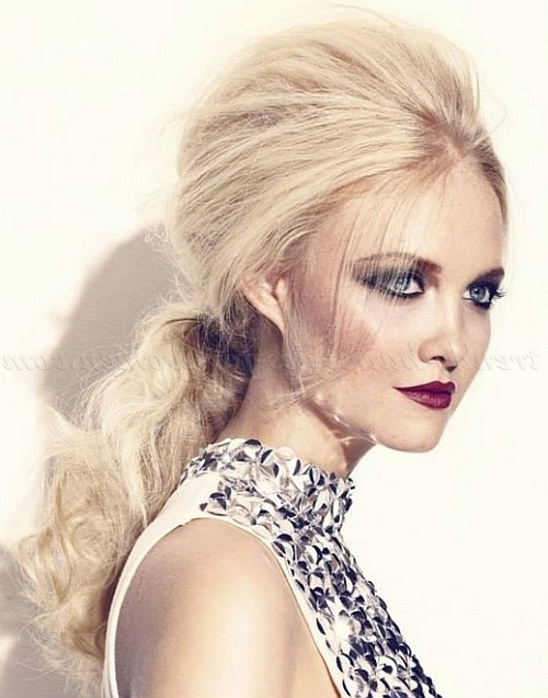 Ponytail Hairstyles – Bouffant Low Ponytail | Trendy Hairstyles For Pertaining To Bouffant Ponytail Hairstyles For Long Hair (View 10 of 25)