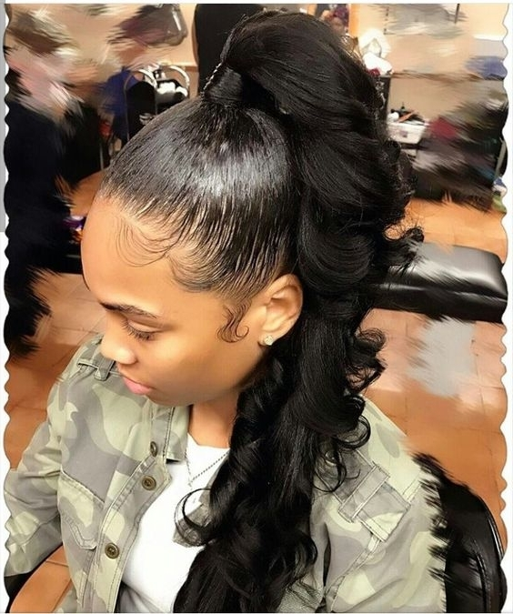 Ponytail Hairstyles For Black Women – Evesteps Regarding Afro Style Ponytail Hairstyles (View 17 of 25)